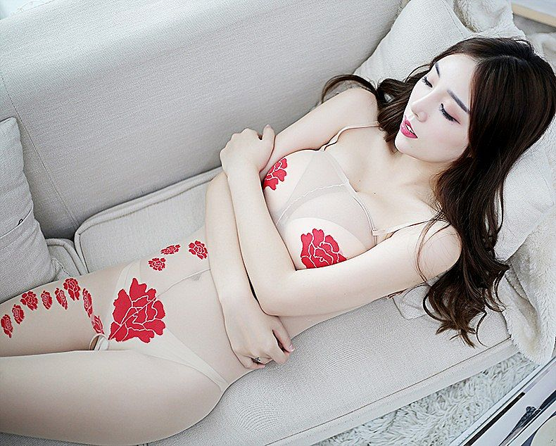 6172 BODYSTOCKING SKIN FLOWER