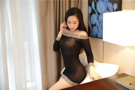 2110 BLACK BODYSTOCKING